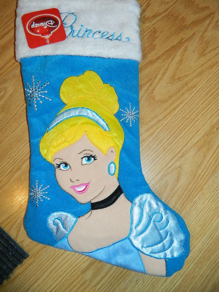 Disney Princess Cinderella Applique Stocking - blue - 18 at Sears.com