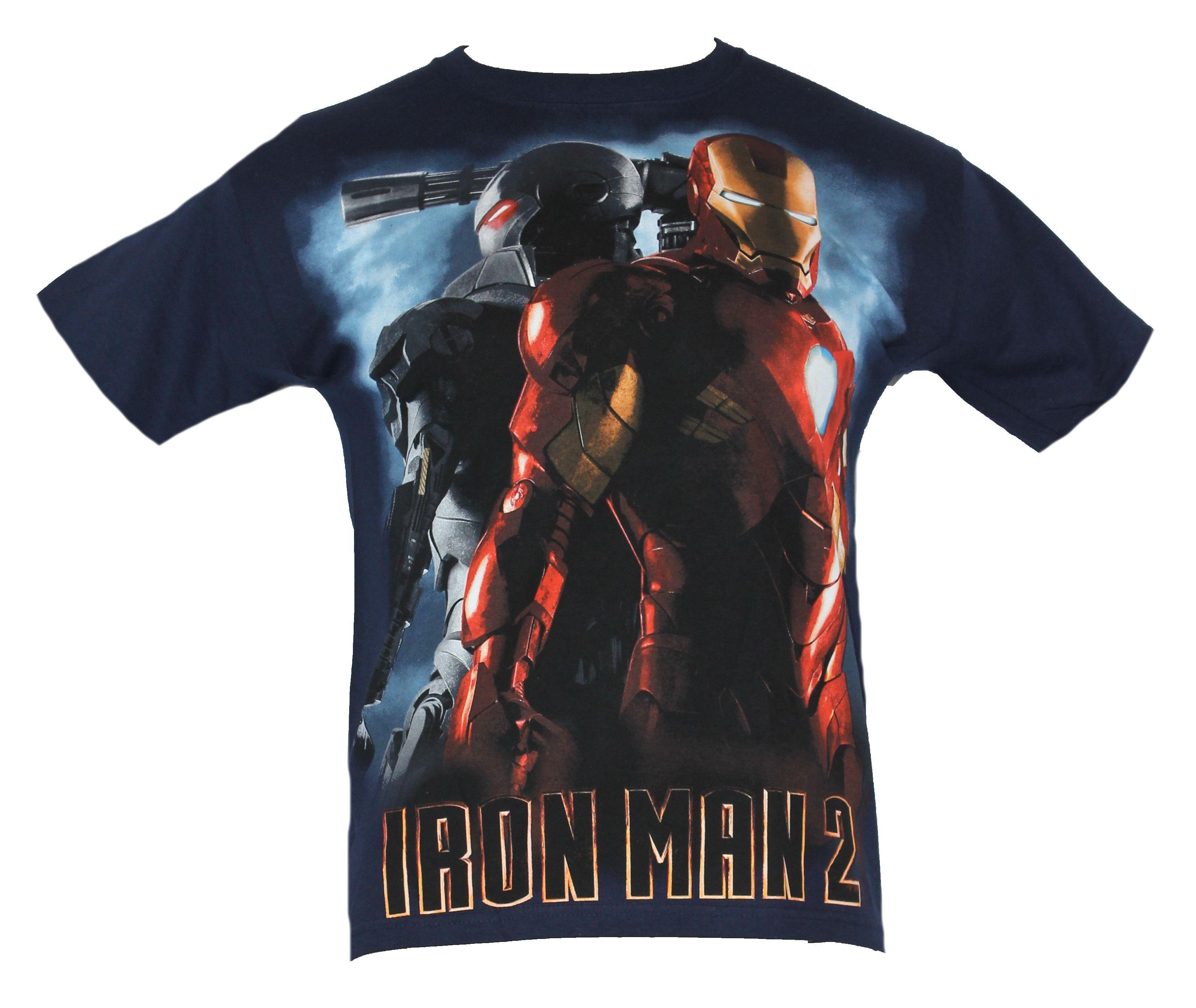 IMPB Iron Man 2 Mens T-Shirt - War Machine Iron Man 2 Back to Back Image on Navy Blue at Sears.com