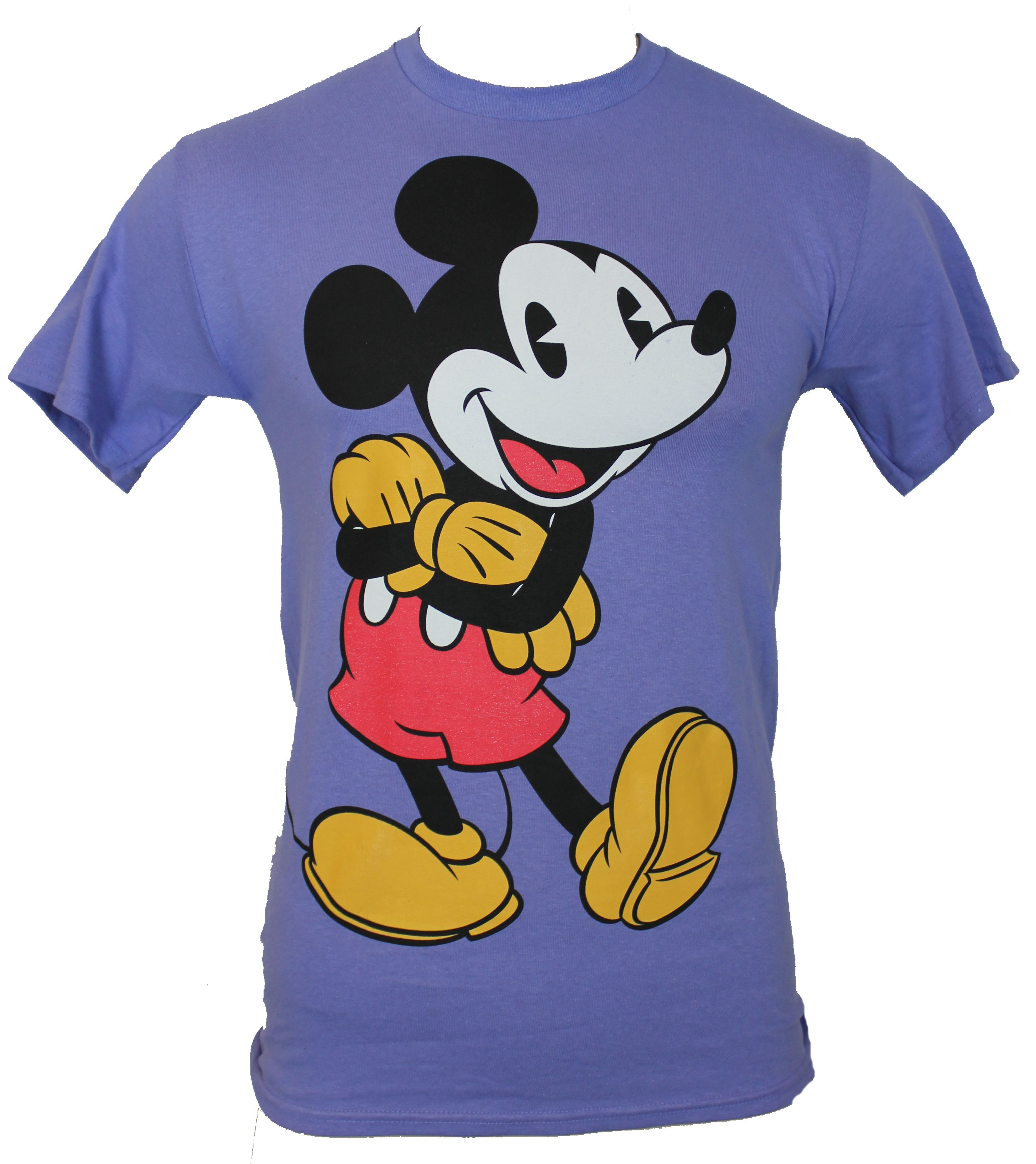 mickey mouse disney mens t shirt arms crossed vintage. Black Bedroom Furniture Sets. Home Design Ideas