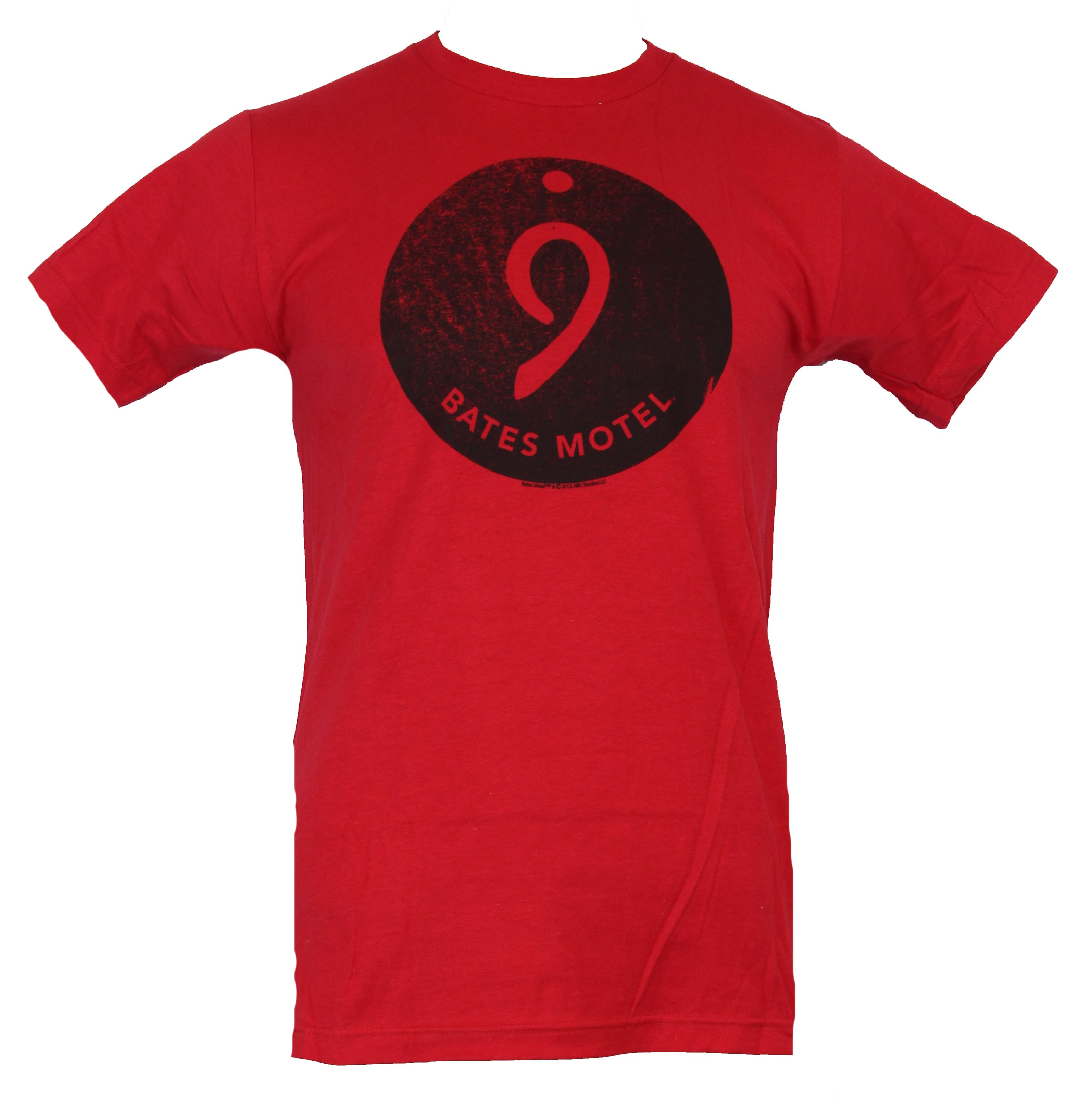 IMPB Bates Motel  Mens T-Shirt - Room 9 Nine Distressed Circle Image Red at Sears.com