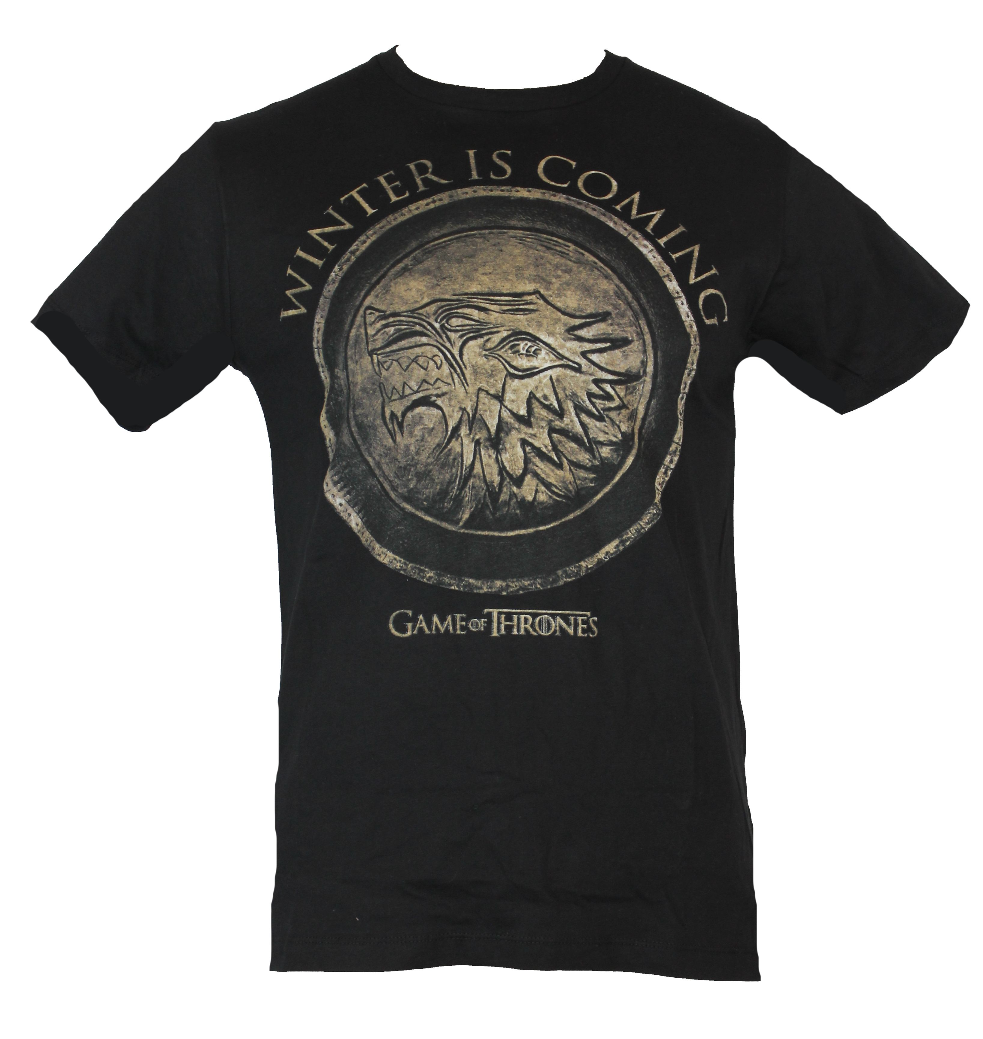 Game of thrones mens t shirt winter is coming stamped for Game of thrones gifts for men