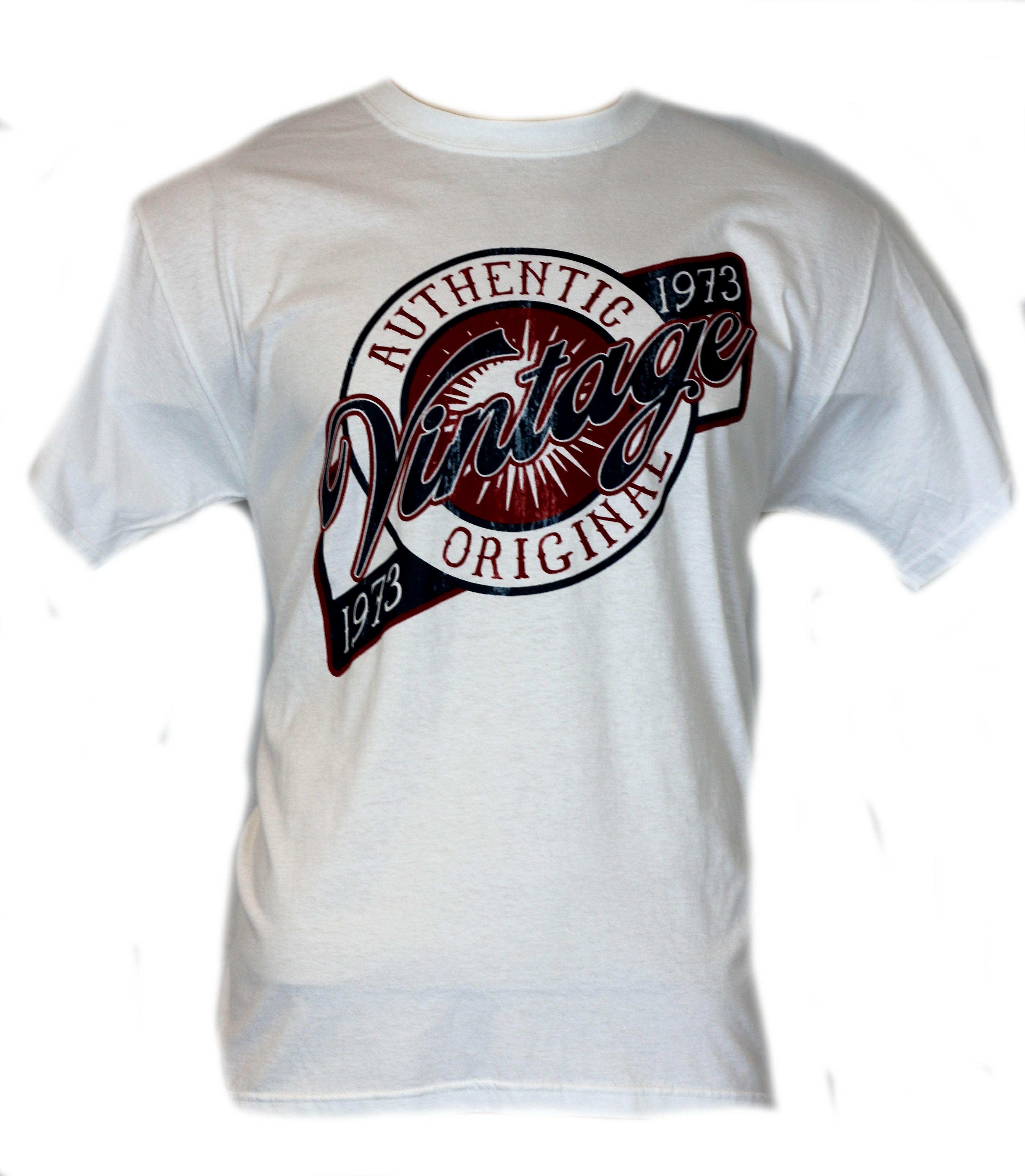 authentic vintage mens t shirt birthday 1973 shirt