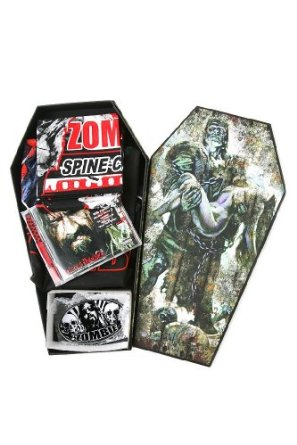 IN MY PARENTS BASEMENT Rob Zombie Hellbilly Deluxe 2 Limited Edition Coffin Box (Contains CD, Belt Buckle, Bandana, And T-Shirt) (S- Small) at Sears.com