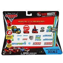 Cars 2 (Disney/Pixar) Ride Makerz World Grand Prix Racing Decals - Two 3.5'