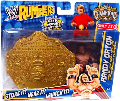 Mattel WWE Wrestling Rumblers Exclusive Randy Orton with World Heavyweight Championship Playcase at Sears.com